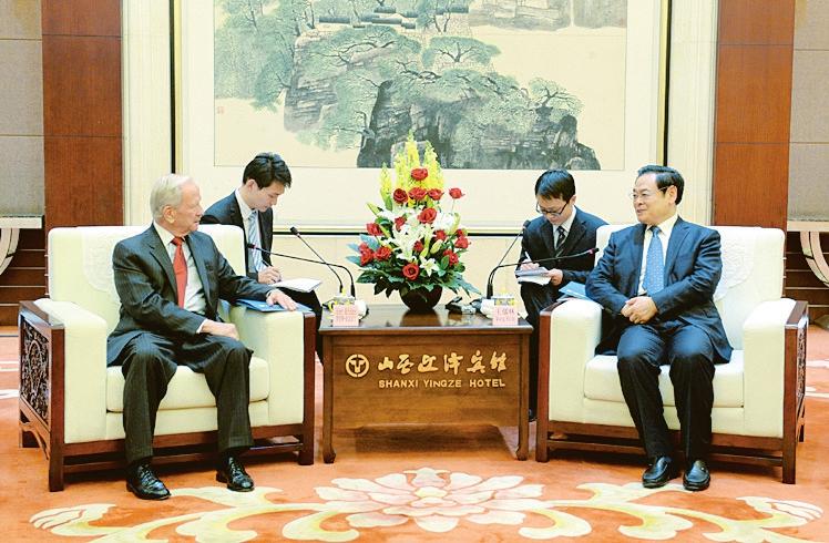 王儒林会见美国对外政策理事会代表团